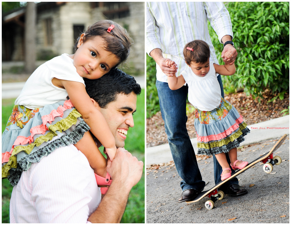 Baby and plays with her dad at Family Photography session in Miami.