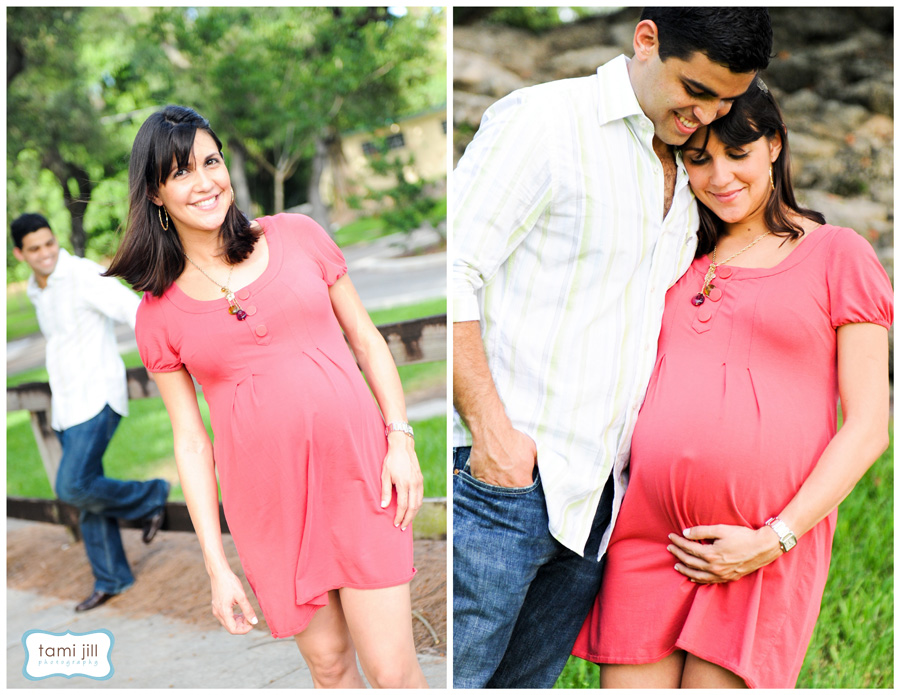 Woman poses for a Maternity Photography session in Miami.
