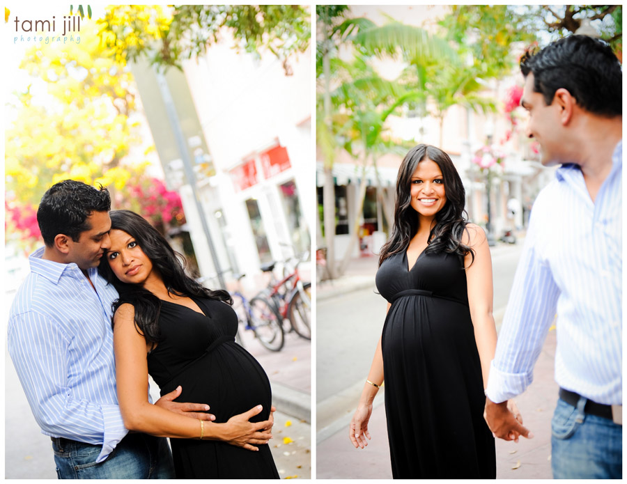 Maternity Session on the streets of South Beach.