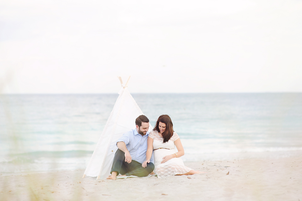Vintage Beach Maternity Photography