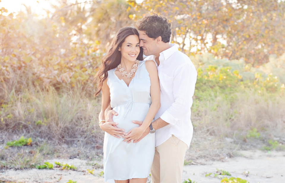 Maternity photography on Miami Beach.