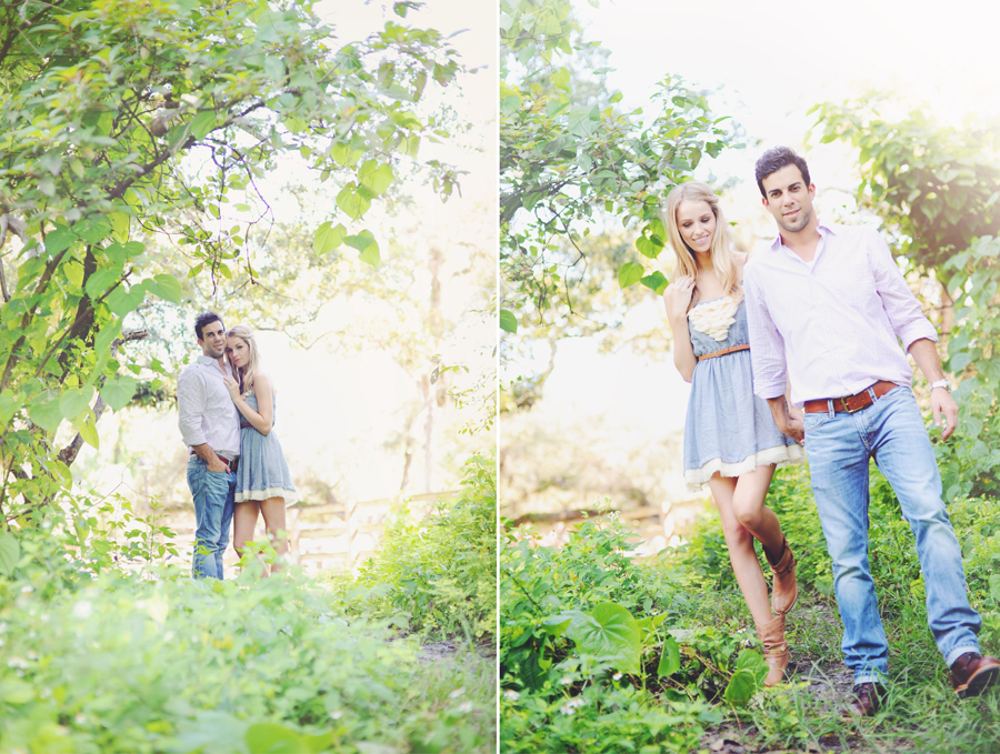 Vintage Miami Engagement shoot in the woods.