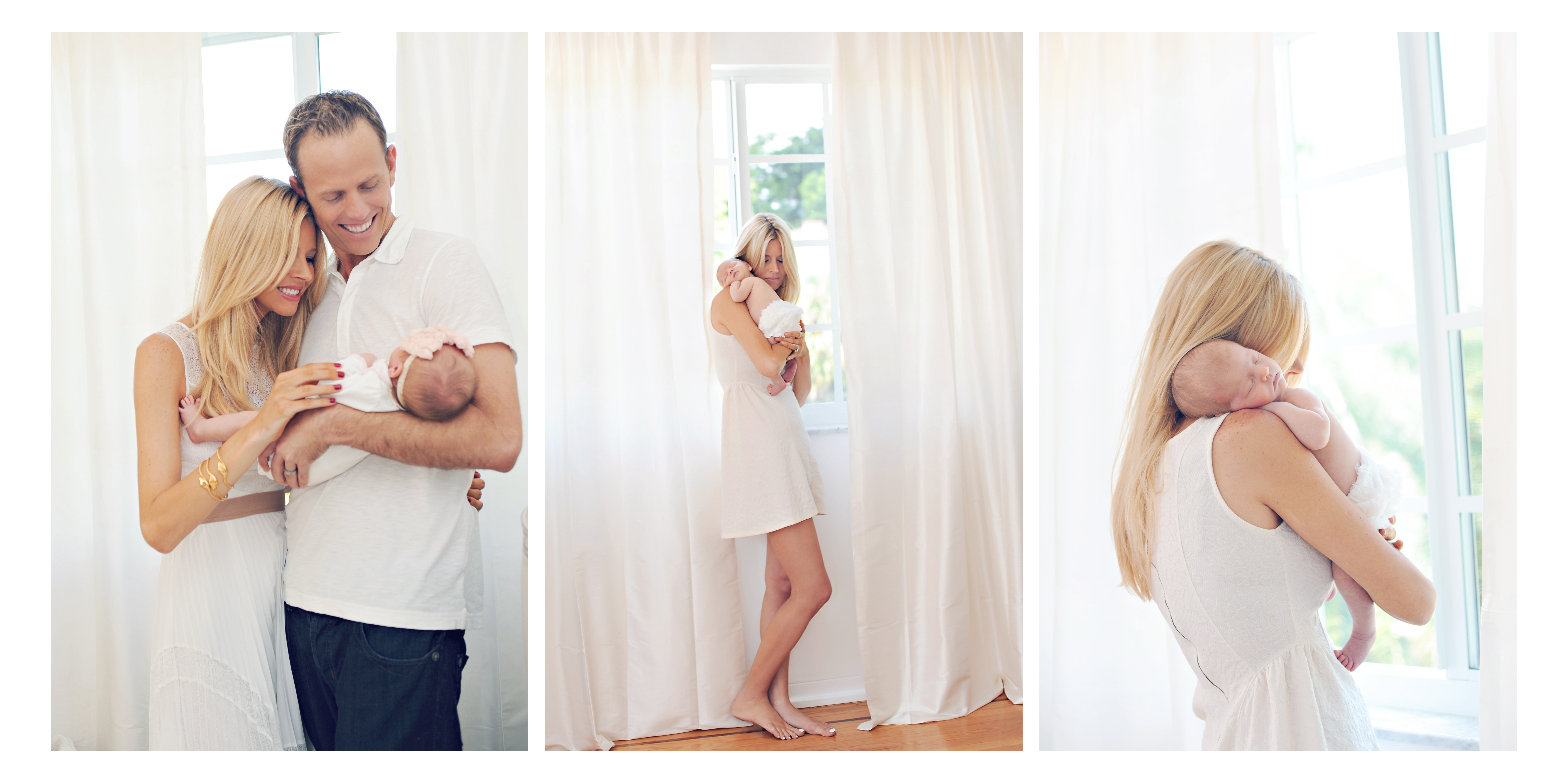 Gorgeous family newborn session in Miami.