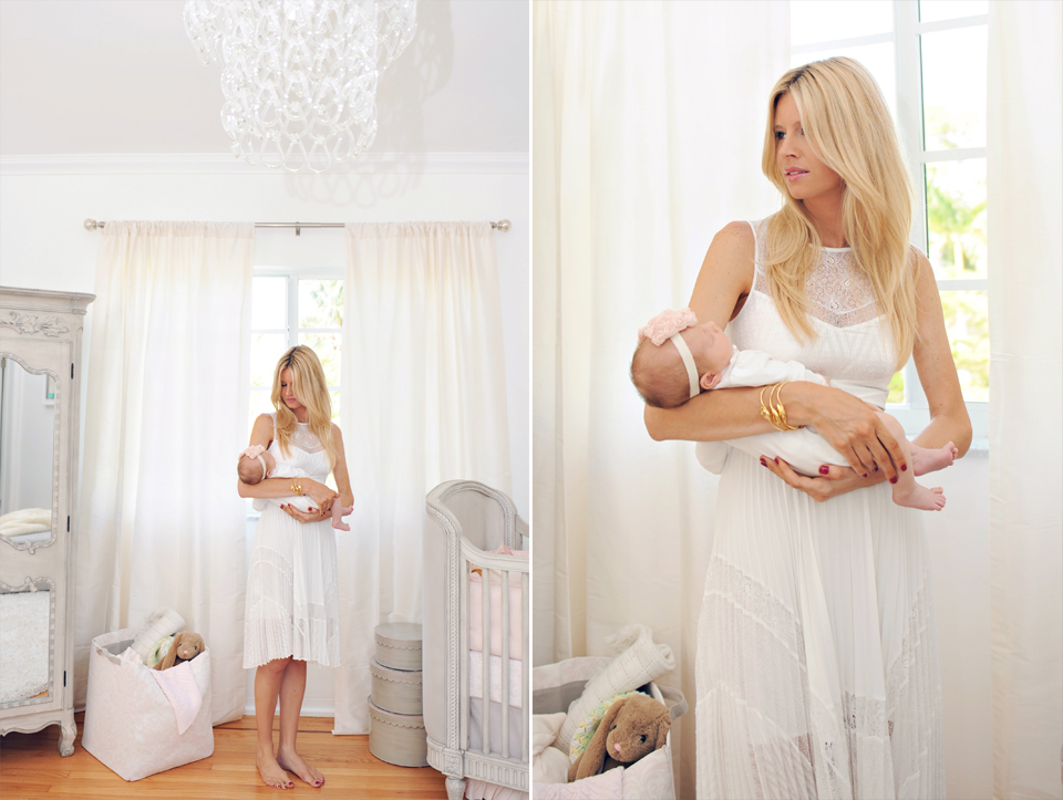 Mommy and baby during miami newborn photography session.