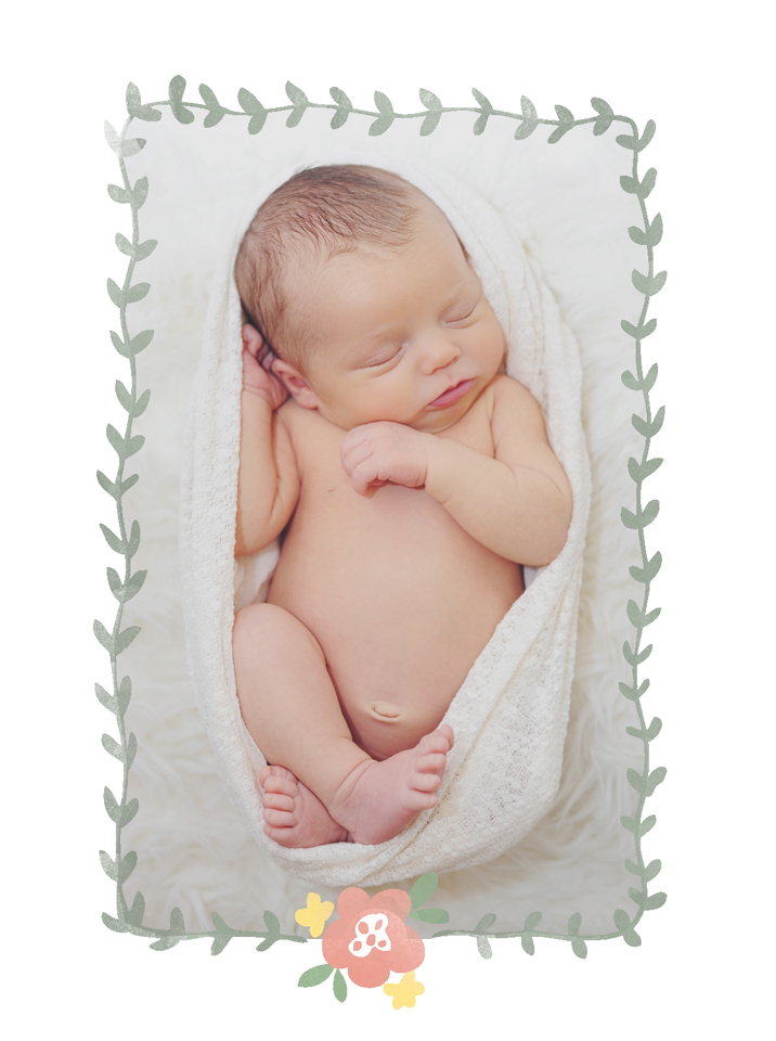 Newborn posing for Ft. Lauderdale Photograpgher