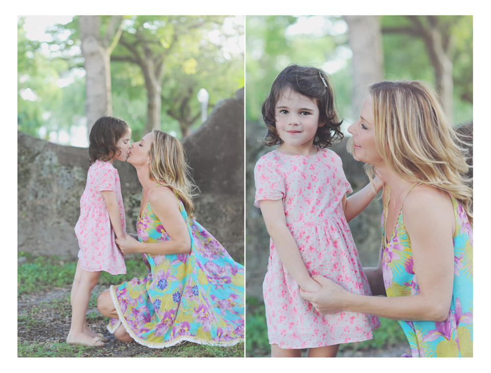 Mother and daughter pose for Miami Family Photographer.
